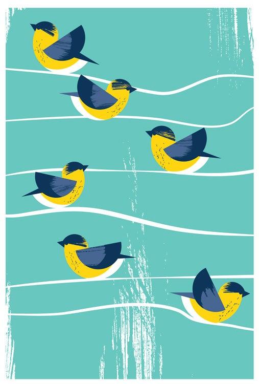 Image of Birds Of A Feather Canada Warbler Silkscreen Print - BirdSafe PGH