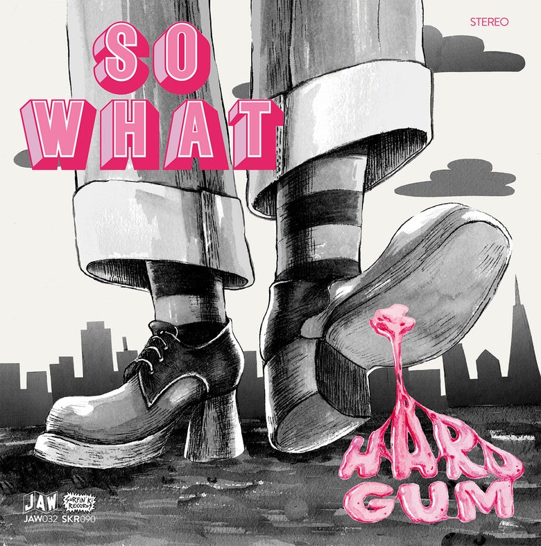 "Image of SO WHAT ""Hard Gum"" LP (pink. ltd. 100, blue ltd. 100 or black vinyl) + download card"