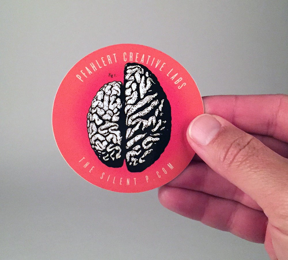 Image of Right Side Brain Vinyl Sticker
