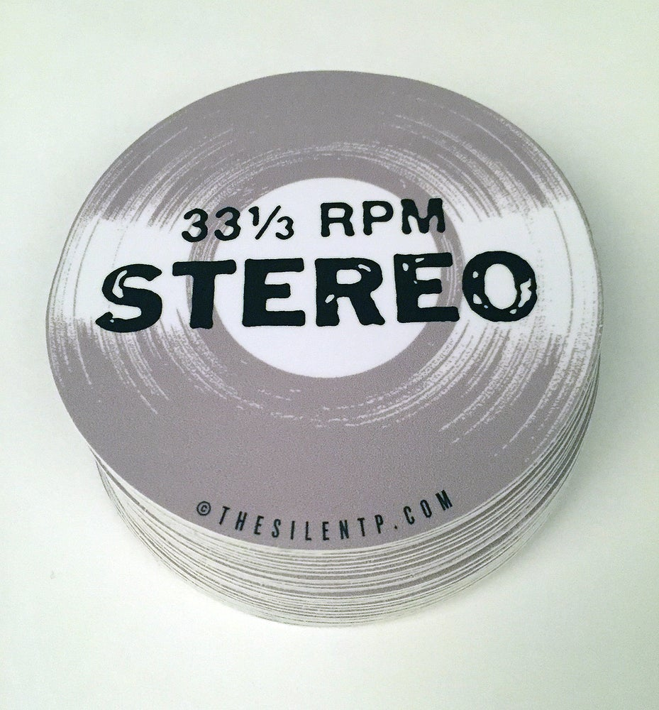 Image of 33 1/3 RPM Stereo Vinyl Sticker