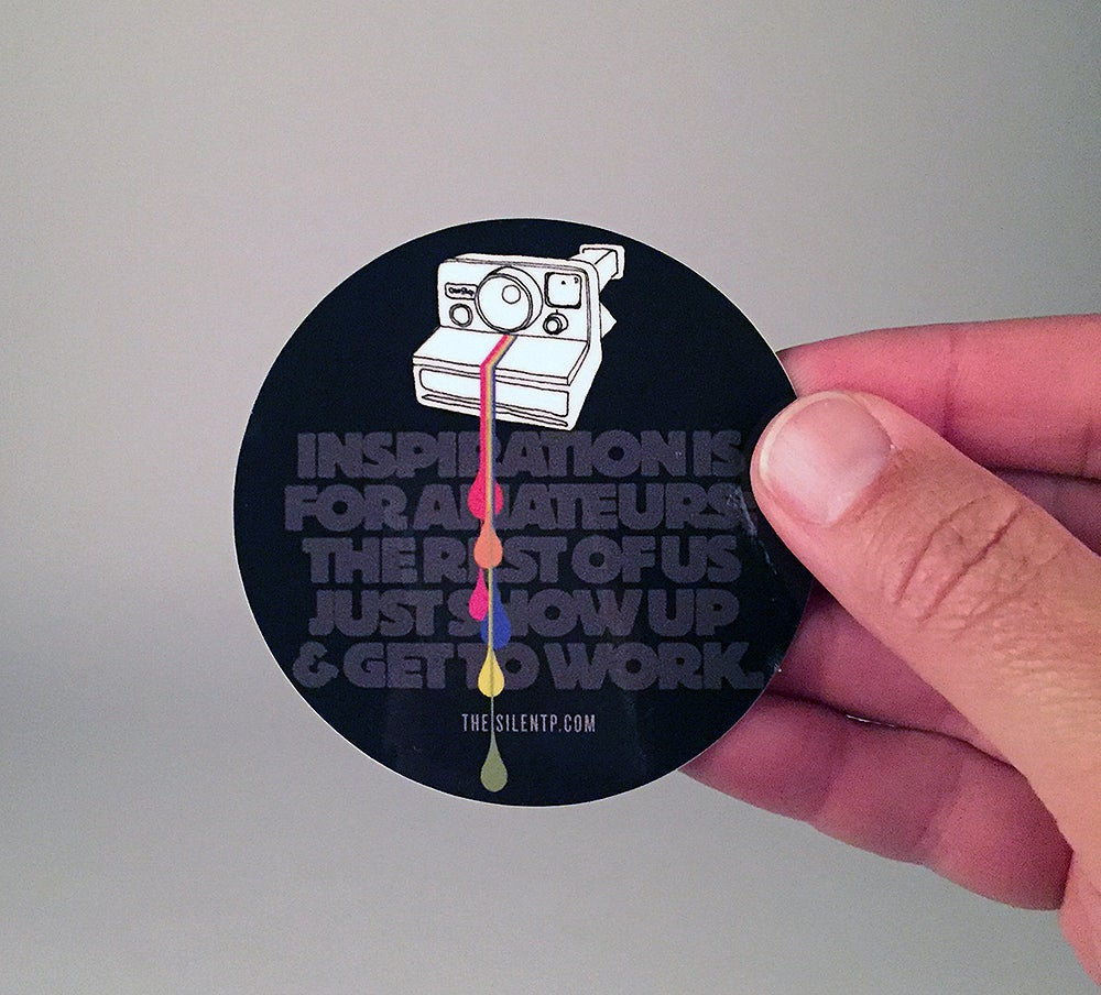 Image of Polaroid Quote Vinyl Sticker