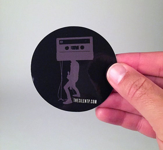 Image of Mr. Cassette Tape Head vinyl sticker