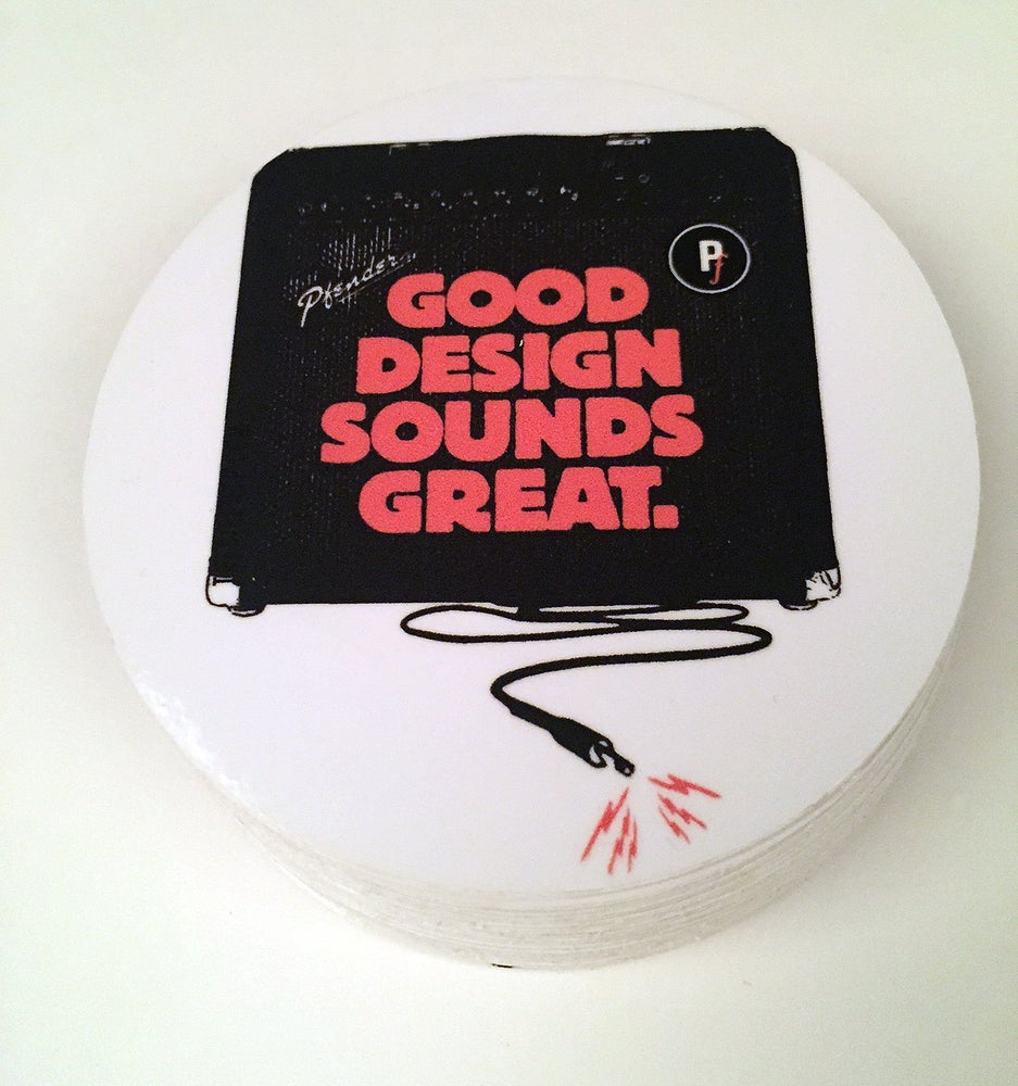 "Image of ""Good Design Sounds Great"" vinyl sticker"