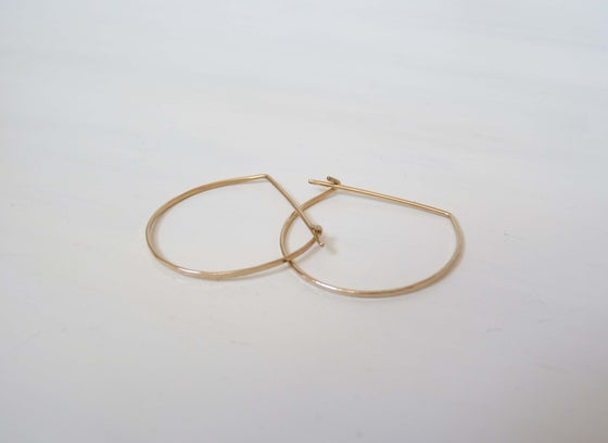 Image of Half moon hoop earrings
