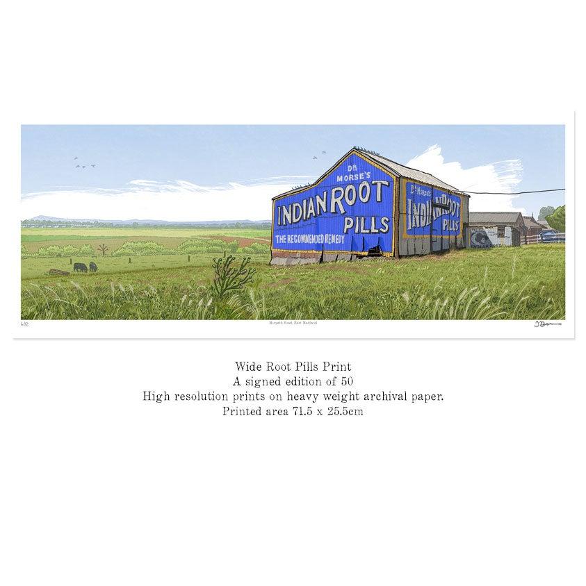 Image of SALE! Maitland Root Pills panoramic print.