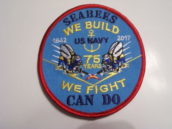 Image of Navy Seabee 75th Anniversary patch