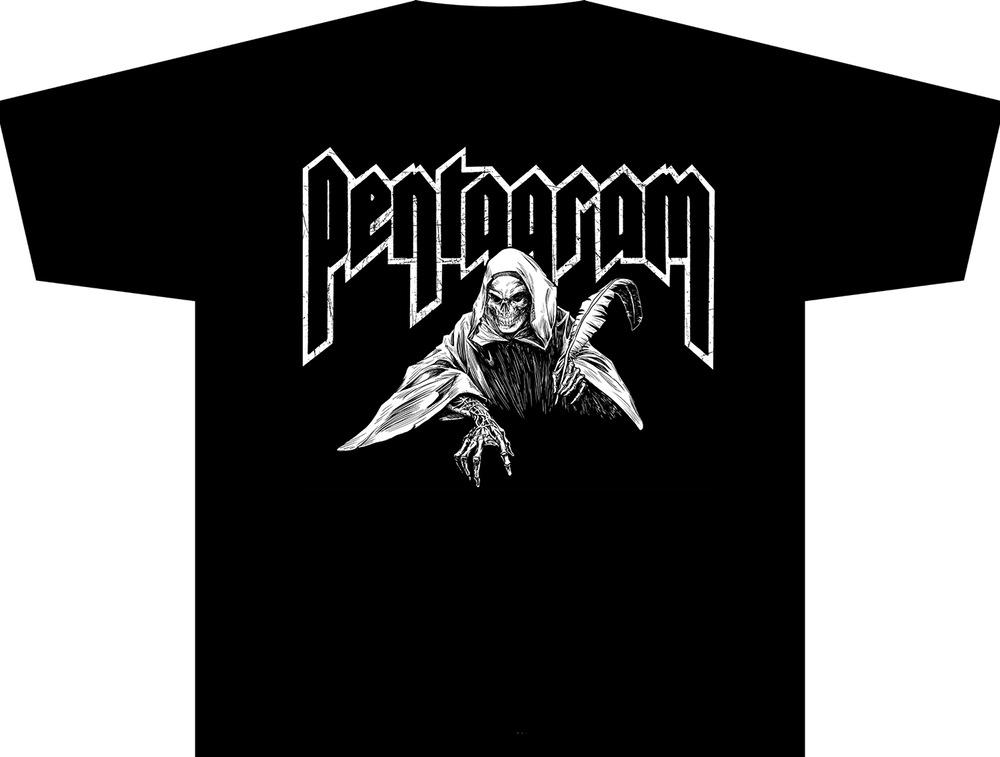 Image of Pentagram - Reaper Tee Black
