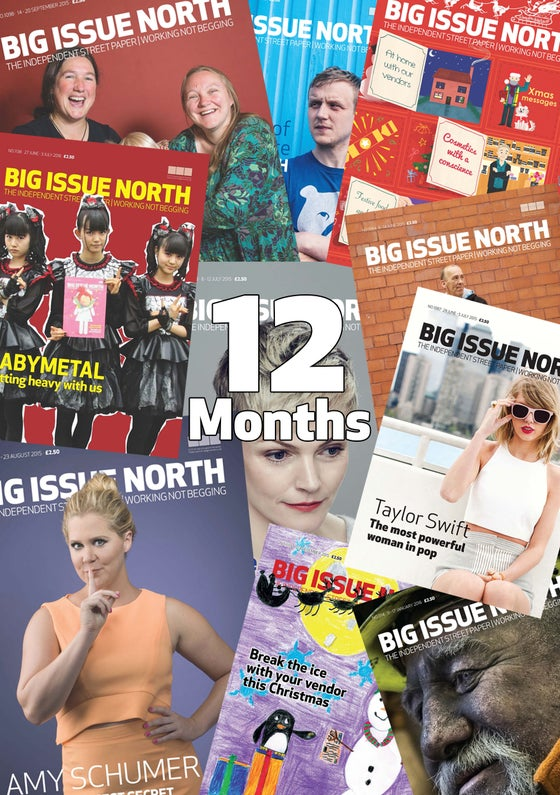 Image of 12 month magazine subscription