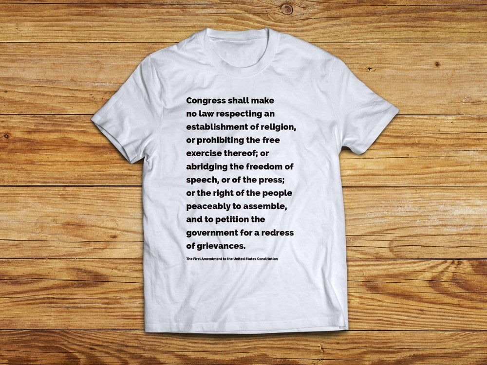 Image of First Amendment tee