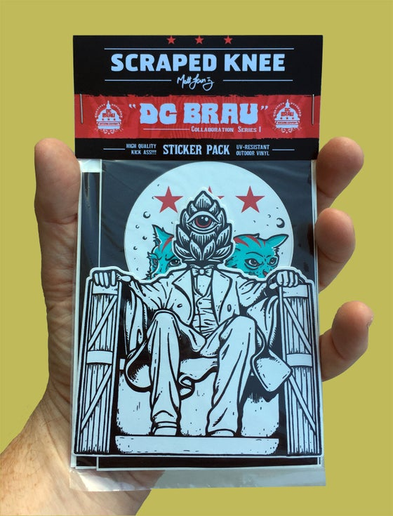 "Image of ""DC BRAU"" sticker pack"