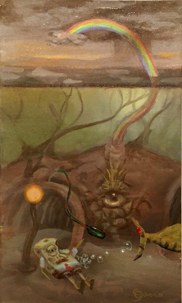 Image of Mark Garro 'Soaked' original color study
