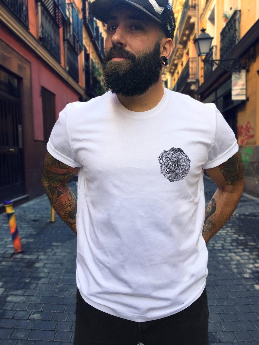 Image of Camiseta Unisex blanca ROSA