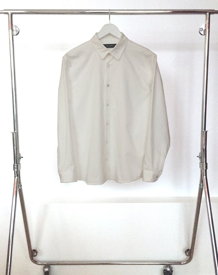 Image of Shirt 1 - Organic cotton poplin - White