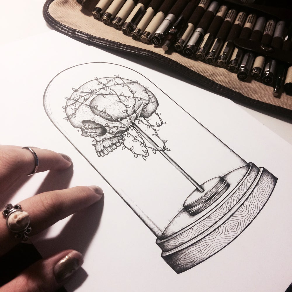 Image of Bell Jar - A6 greetings card