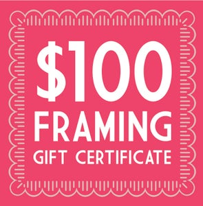 Image of $100 Trinity Framing Gift Certificate