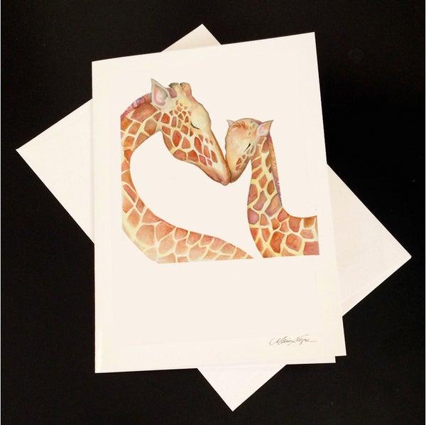 Image of Giraffe 5-Pack Greeting Card Set