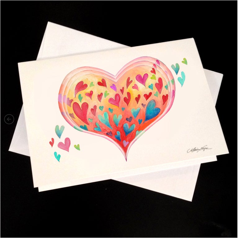 Image of Heart Love 5-Pack Greeting Card Set
