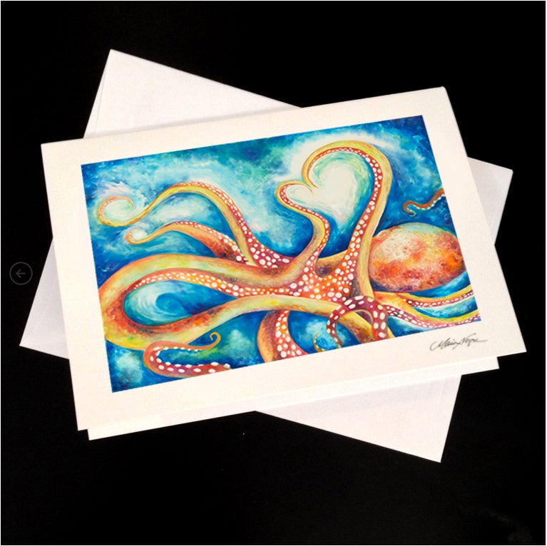 Image of Octopus 5-Pack Greeting Card Set