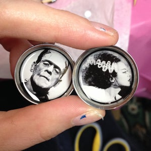 "Image of Monster & Bride Plugs (sizes 2g-2"")"