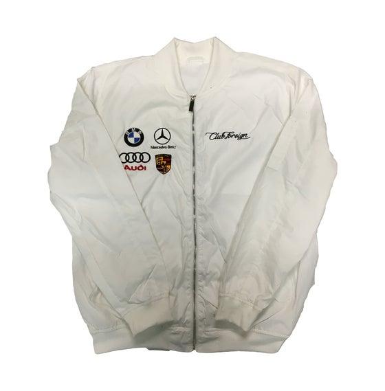 "Image of Club Foreign Bomber Jacket ""White"""