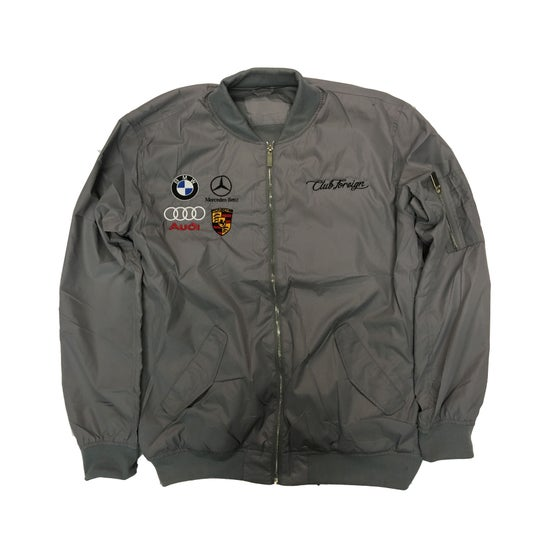 """Image of Club Foreign Bomber Jacket """"Grey"""""""