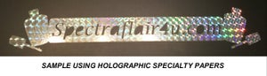 Image of Holographic Self-Stick Specialty Paper (Acid-Free)