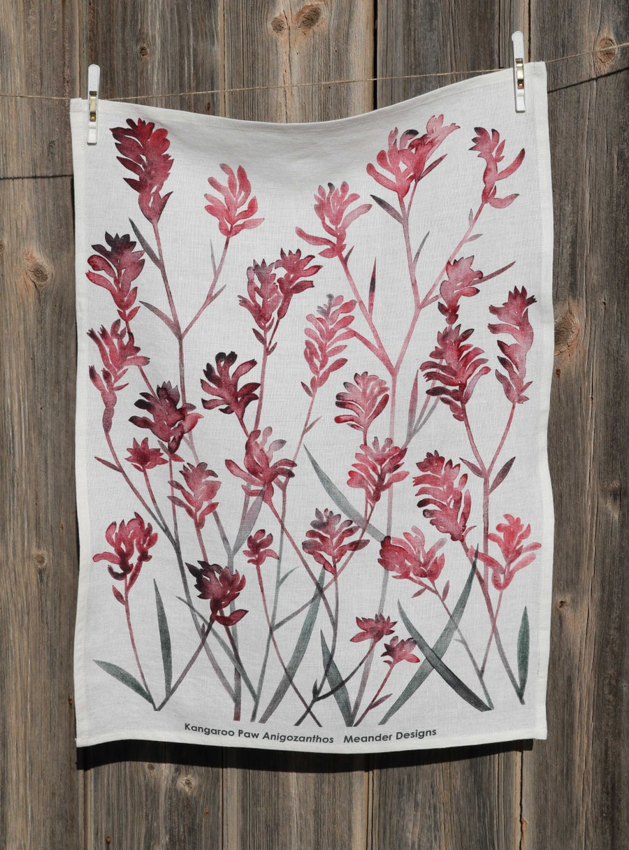 Image of Kangaroo Paw Tea Towel