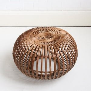 Image of Wicker lobster pot foot stool