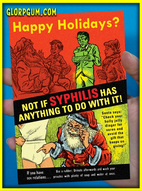 Image of Syphilis Holiday Health cards!