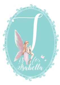 Image of Teal Fairy Initial Print