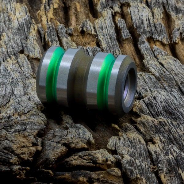 Image of Tank Lime Green & Light Bronze Ti Bead #1
