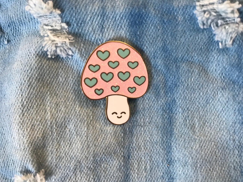 Image of Happy Mushroom Enamel Pin