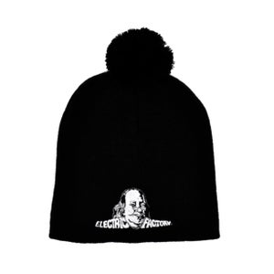 Image of Electric Factory Logo Black Knit Pom Hat