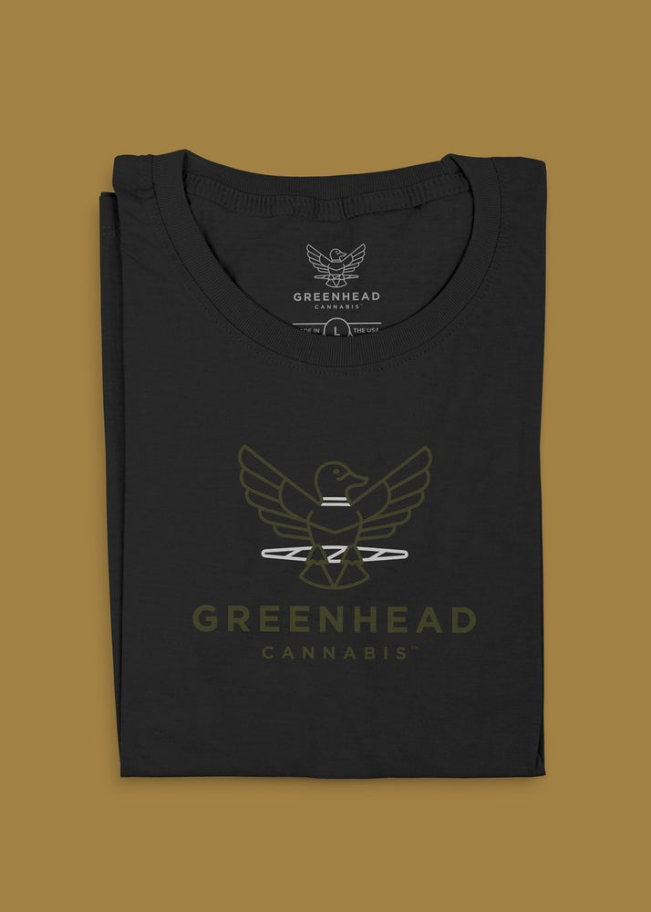 "Image of Greenhead ""Logo"" T-Shirt in Black"