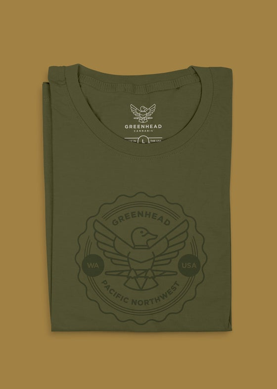 "Image of Greenhead ""Crest"" T-Shirt in Green"