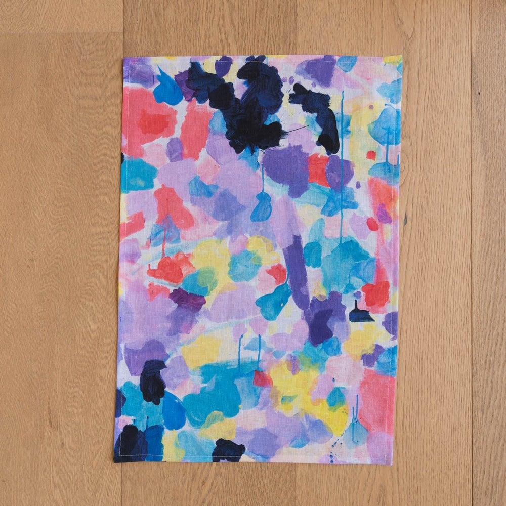 Image of Lilac 100% Linen Tea Towel