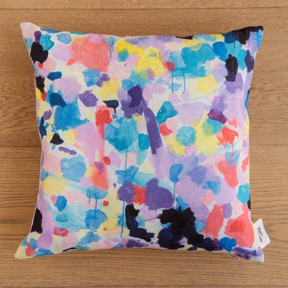 Image of Lilac 100% Linen Cushion