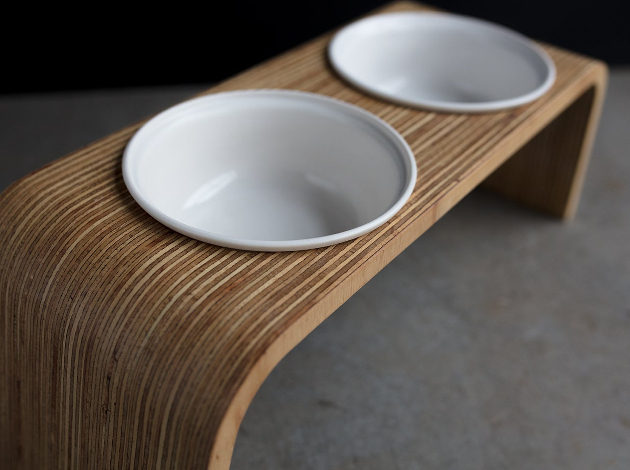 Image Of Dog Bowl Stand Set: Double Tall