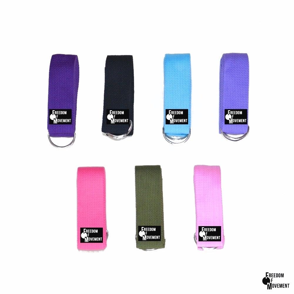 Image of 100% cotton yoga strap/ belt