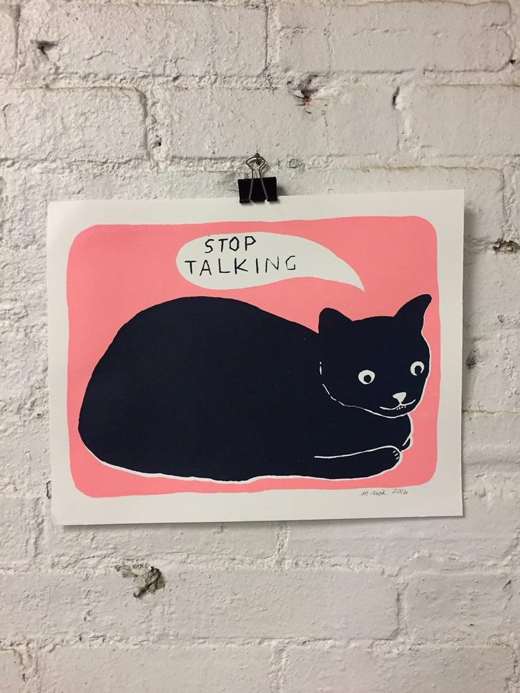 Image of stop talking