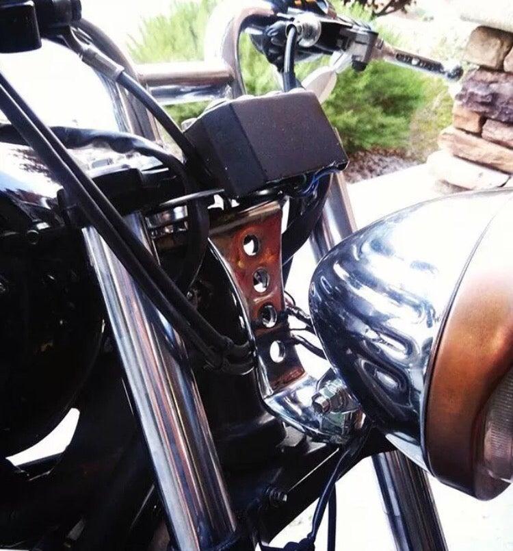 Image of Chrome 'No-Brow' Headlight Mount