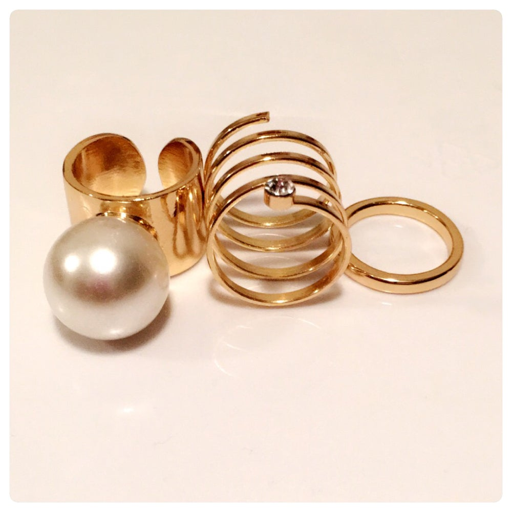 Image of Perla Midi ring set