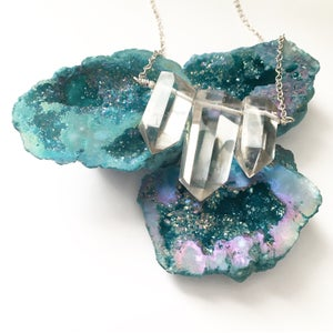 Image of Sirens Necklace - polished Quartz, Sterling silver SOLD OUT