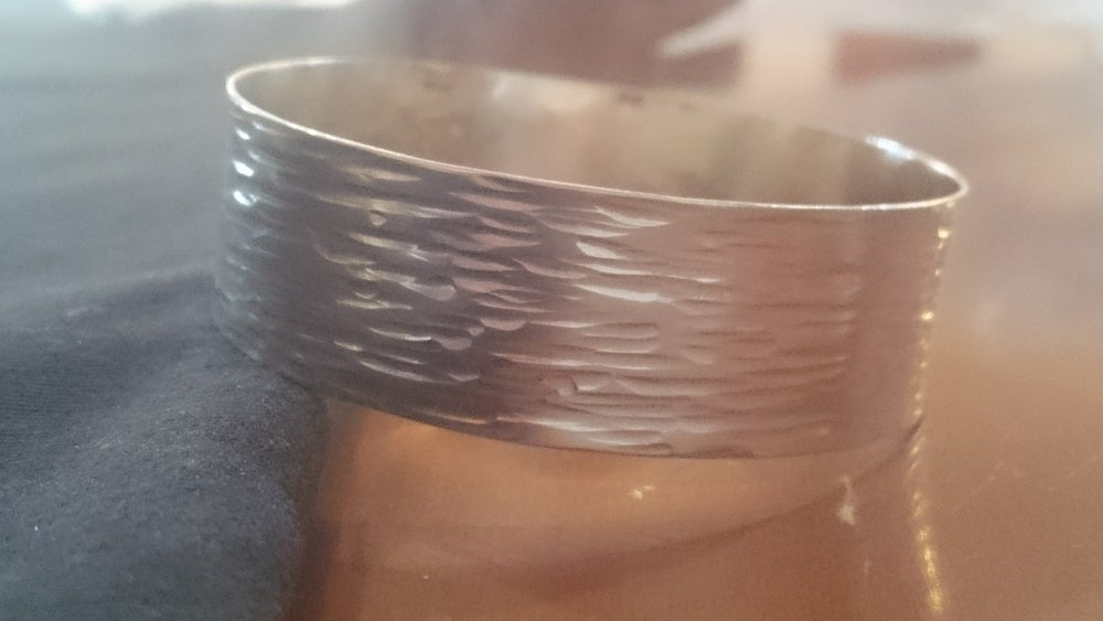 Image of Wide Textured Bangle