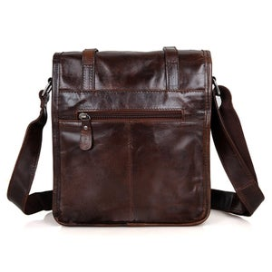 Image of Vintage Handmade Antique Leather Messenger Bag / Cross Body Bag / iPad Bag (n82)