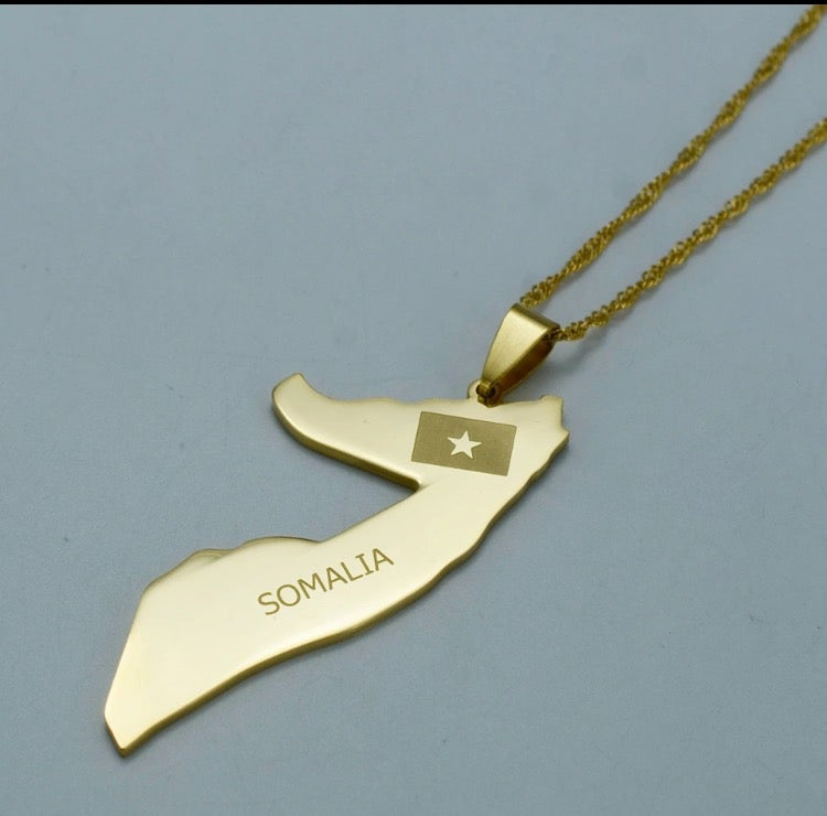 Image of Somalia Map Necklace