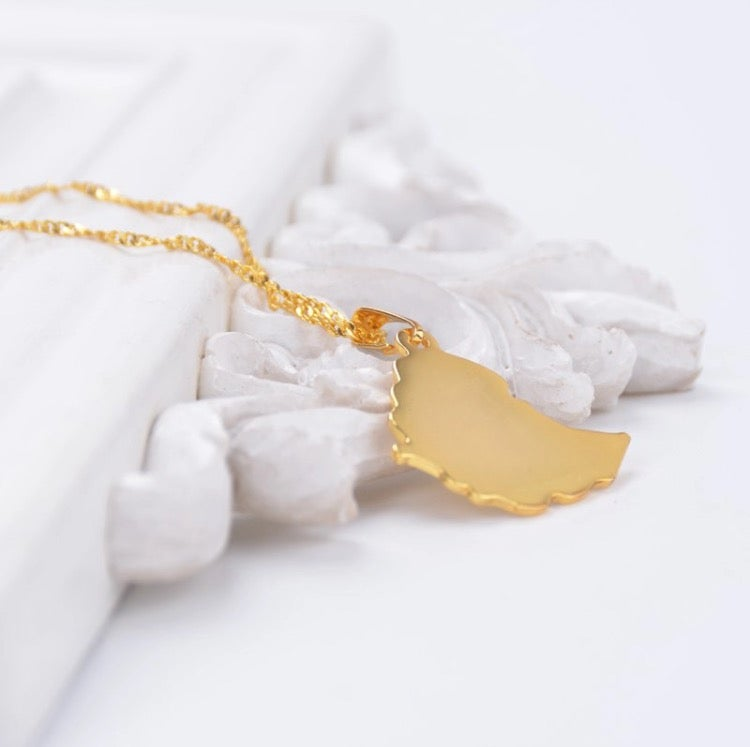 Image of Ethiopia Map Necklace