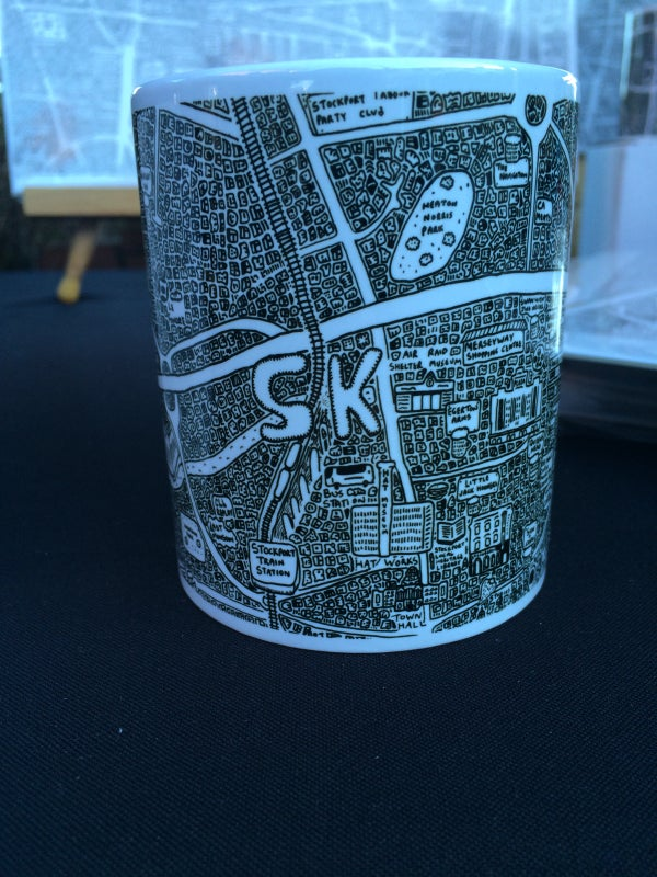 Image of Stockport Doodle Map Mug