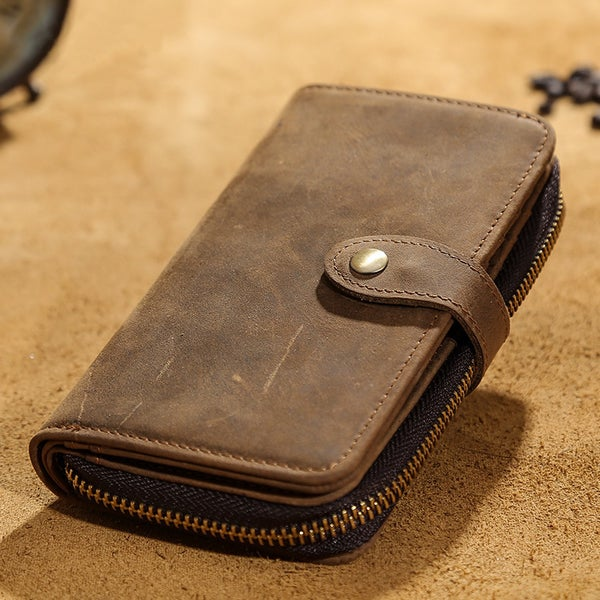Image of Vintage Handmade Antique Leather Wallet / iPhone 6 6s iPhone 7 Wallet / Case (W3)