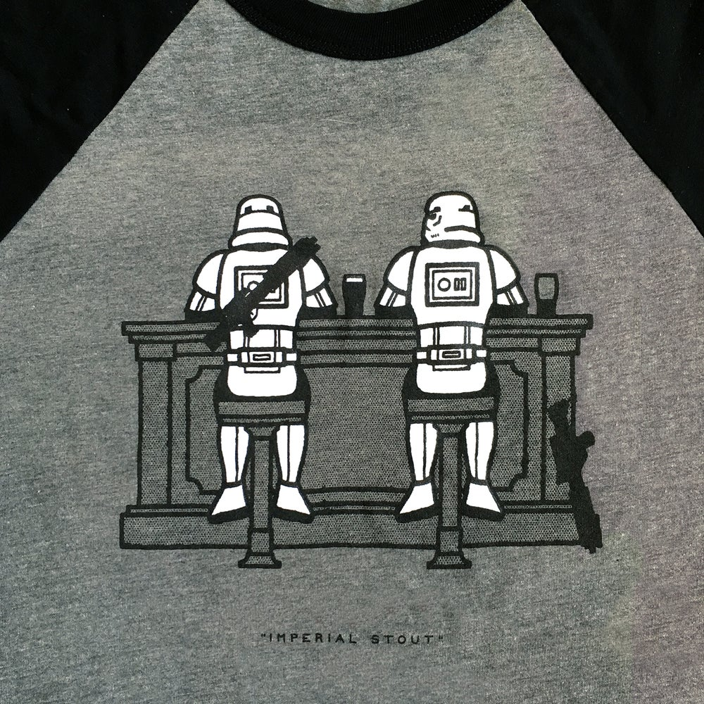"""Image of """"Imperial Stout"""" Baseball Tee"""